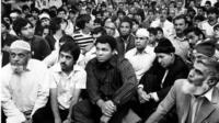 Muhammad Ali at Birmingham Central Mosque in 1983