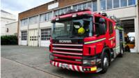 Fire engine in Leamington Spa