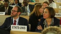 UN Human Rights Commissioner Zeid Ra'ad Al Hussein speaking in Geneva