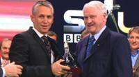 Gary Lineker and Sir Bobby Robson