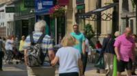 Shoppers in Bristol