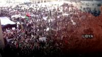 Protestors in Benghazi