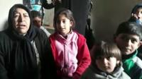 Syrian civilians displaced by fighting between Turkish and Kurdish forces in Afrin