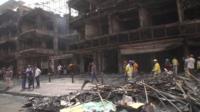 Bomb damage in Baghdad