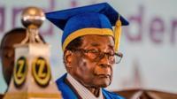 President Mugabe at graduation ceremony - 17 November