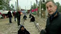 Migrants living on the Greek/Macedonian border