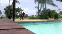 Hotel pool, Grand Bassam
