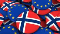 Norway and EU flags