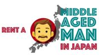 Rent a middle-aged man in Japan graphic