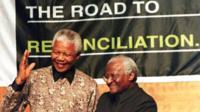 Nelson Mandela and Archbishop Desmond Tutu