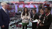 Tony Hall and three school reporters