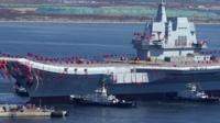 China's first domestically-made aircraft carrier