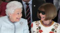 The Queen and Anna Wintour