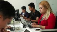 Filipinos in the office