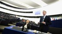 Sir Julian King speaking in the European Parliament