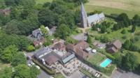 Aerial view of Headley