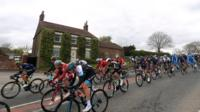 Riders in the Tour de Yorkshire