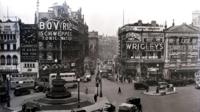 Piccadilly Circus in 1949