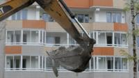Apartment block demolished
