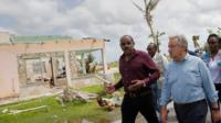 Prime Minister of Antigua and Barbuda Gaston Browne and Secretary-General of the United Nations Antonio Guterres visit Codrington on the island of Barbuda