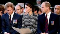 Prince Harry and the Duke and Duchess of Cambridge