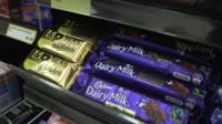 Chocolate on shelf