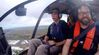 Reporter Tim Mcdonald on a pub crawl via helicopter