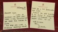 Letters written by Princess Diana
