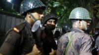 Bangladeshi police in Dhaka