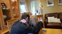 The Dunn family celebrating