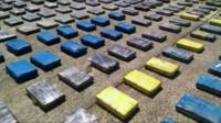 Cocaine seized in Colombia