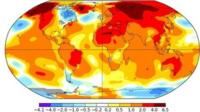 Global temperatures from NASA