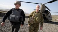 Australian PM Malcolm Turnbull visits his nation's troops in Afghanistan last month
