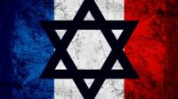 French flag with Star of David