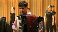 North Korea musicians in Cardiff