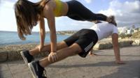 Eva-Marie Mahfouz, street gymnast from Beirut