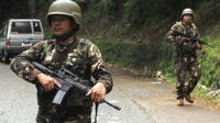Military troops patrol Marawi City