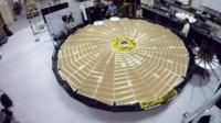 A cardboard model of Nasa's proposed Starshade