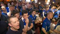 Leicester fans in pub