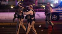 A police scanner captures the dramatic manhunt as a Swat team moves through the Mandalay Hotel.