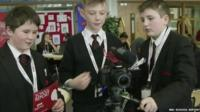 School Reporters and camera