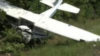 A plane crashes