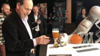 Rory Cellan-Jones and robotic barman