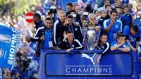 Premier League winners Leicester FC enjoy open top bus victory parade