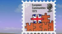 1973 postage stamp to mark UK joining EEC
