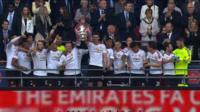 Celebrations as Man Utd lift FA Cup trophy
