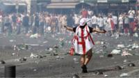 England fan in Marseille