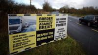 Northern Ireland border sign