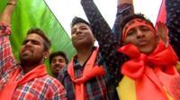Student protesting in Delhi