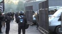 Riot police try to control hundreds of anti-NF protesters in Paris